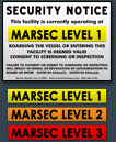 Security Signs to meet the USCG's MTSA Regulations ...