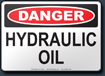 Danger Hydraulic Oil Sign
